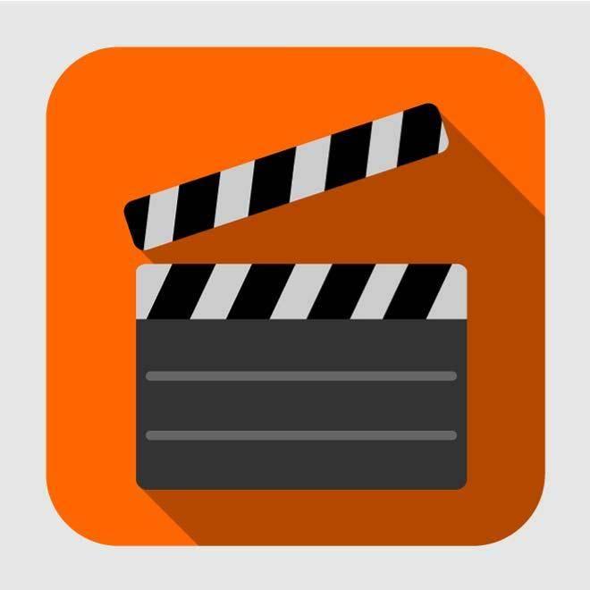 flat-movie-clapper-icon