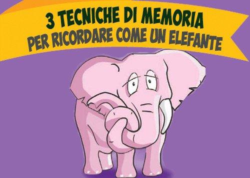3 Tecniche di memoria per ricordare come un elefante