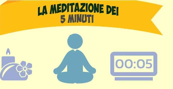 """La meditazione dei """"5 minuti"""" [Infografica]"""